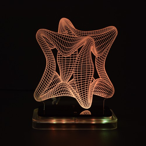 3D illusion light sculpture-Twist