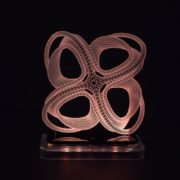 3D illusion light sculpture- Roller Coaster