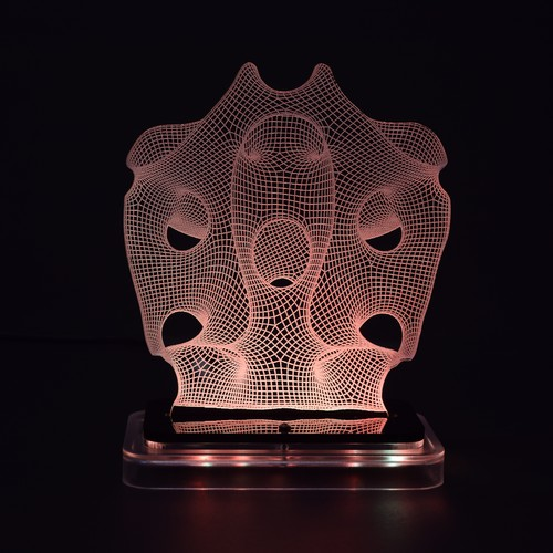 3D illusion light sculpture-Crown