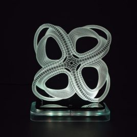 3D illusion light sculpture- Roller Coaster