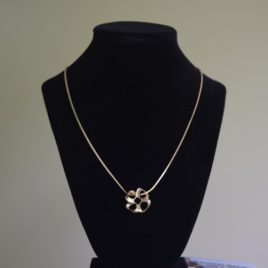 Roller coaster pendant necklace
