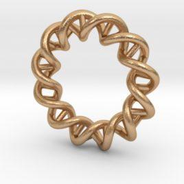 Mithocondria DNA pendant necklace-bronze