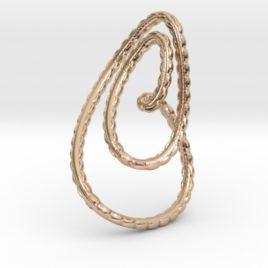Textured loop pendant necklace